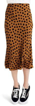 Madewell Painted Spots Midi Slip Skirt