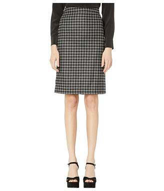 Moschino Flannel Check Pencil Skirt