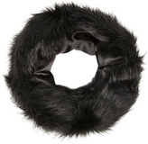 Black faux fur snood