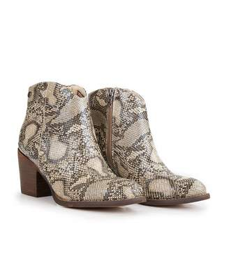 Xti Block Heel Western Boots Colour: SAND, Size: UK 3
