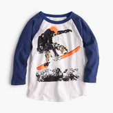 J.Crew Boys' three-quarter sleeve snowboarder T-shirt