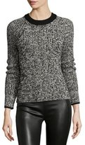 Rag & Bone Karen Crewneck Sweater, Black/White