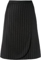 Armani Collezioni striped skirt - women - Virgin Wool/Polyester - 40