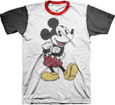 JCPenney Novelty T-Shirts Colorblock Mickey Mouse Graphic Tee