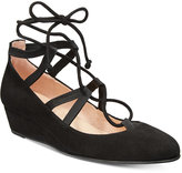 French Sole Twosome Lace-Up Wedges