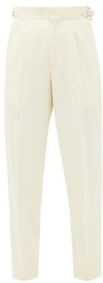 Umit Benan B+ - High-rise Wool-blend Trousers - Ivory