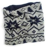 Muk Luks Women's Reversible Nordic Funnel Scarf - Grey