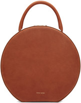 Mansur Gavriel Brown Leather Circle Bag
