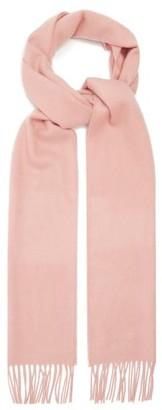 Johnstons of Elgin Fringed Cashmere Scarf - Light Pink