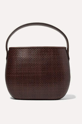 Tl 180 TL-180 - Ida Woven Leather Tote - Dark brown