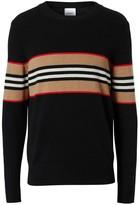 Burberry Icon Stripe Detail Cashmere Sweater