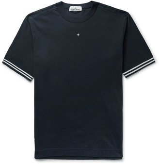 Stone Island Embroidered Cotton-Jersey T-Shirt
