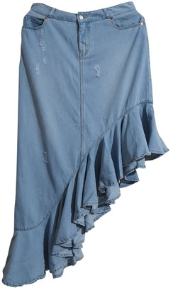 Birgitte Herskind Blue Cotton Skirt for Women