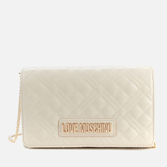 Love Moschino Women's Quilted Chain Shoulder Bag - Ivory