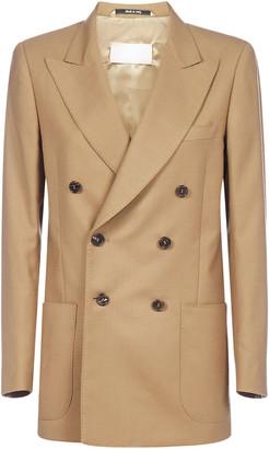 Maison Margiela Double Breasted Wool-blend Blazer