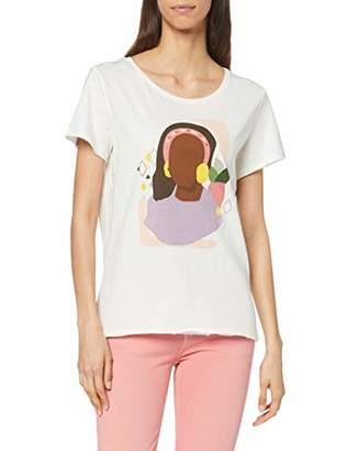Esprit edc by Women's 039CC1K021 T-Shirt, (White 110)
