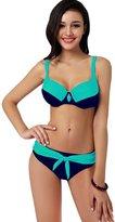 New step Newstep Women's Plus size Push up Bralette Bikini Swimsuit ( L)