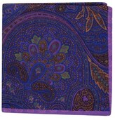 Ted Baker Paisley Medallion Double Sided Silk Pocket Square
