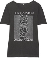 R 13 Joy Division Printed Cotton-blend Jersey T-shirt - Charcoal