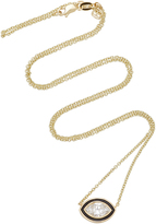Sydney Evan Single Diamond Enamel Marquise Necklace