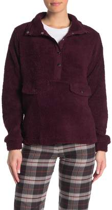 Cotton On Blair Button-Up Faux Shearling Fleece Sweater