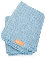 Aquis Waffle Luxe Long Hair Towel - Dream Boat Blue