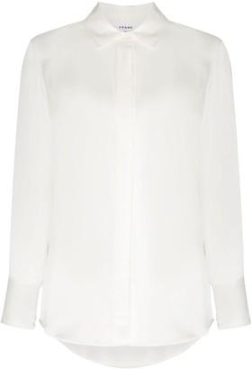 Frame Button-Up Long-Sleeve Shirt