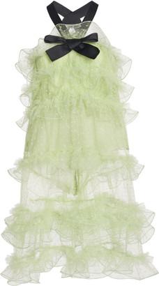 Giambattista Valli Tulle Mini Dress With Bow