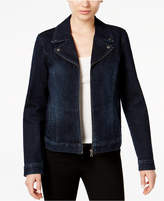 Style&Co. Style & Co Denim Moto Jacket, Created for Macy's