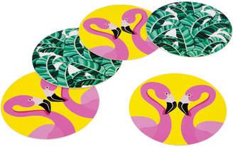 Sunnylife Set Of 16 Tropical Reversible Coasters
