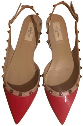 Valentino Rockstud Red Patent leather Ballet flats