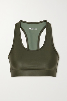 All Access Front Row Stretch Sports Bra - Army green