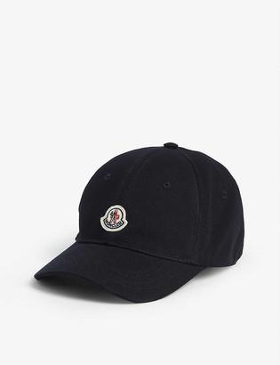 Moncler Kids logo patch baseball cap
