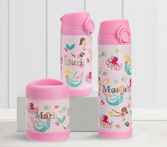 Pottery Barn Kids Mackenzie Pink Mermaid Friends Glow-in-the-dark Hot & Cold Container