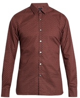 Lanvin Paisley-print Slim-fit Cotton Shirt