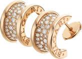 Bvlgari B.zero1 18ct pink-gold and diamond earrings