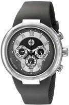 Philip Stein Teslar Unisex 32-AGR-RBGR Active Grey Chronograph Rubber Strap Watch