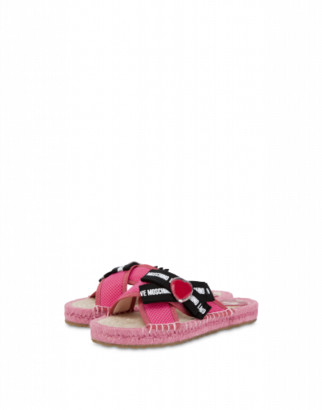Love Moschino Sandals Rope Bow Love Woman Pink Size 35