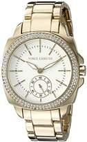 Vince Camuto Women's VC/5262WTGB Swarovski Crystal Accented Gold-Tone Bracelet Watch