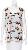 Magaschoni Sleeveless Abstract Print Top w/ Tags