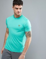 Lyle & Scott Fitness Peters T-Shirt with Mesh Panel Detail in Fresh Green