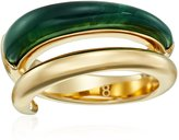 """Michael Kors Fashion"""" Autumn Luxe Black Banded Wide Ring"""