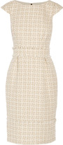 Badgley Mischka Metallic tweed dress