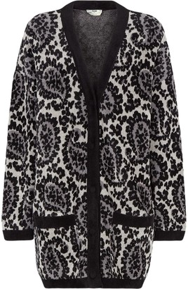Fendi Paisley Pattern Oversized Cardigan