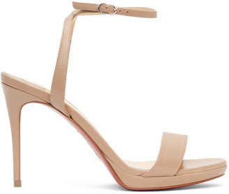 Christian Louboutin Beige Loubi Queen 100 Heeled Sandals