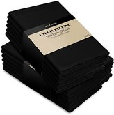 Utopia Bedding Cotton Dinner Napkins Black - 12 Pack (18 inches x18 inches) Soft and Comfortable - Durable Hotel Quality - Ideal for Events and Regular Home Use - by Utopia Kitchen