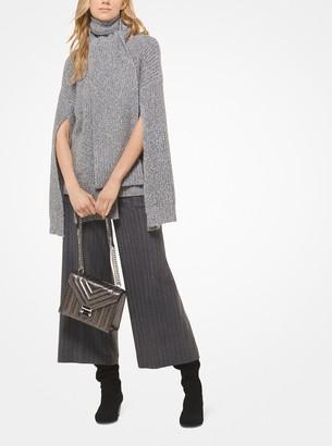 MICHAEL Michael Kors Ribbed Wool-Blend Split-Sleeve Sweater