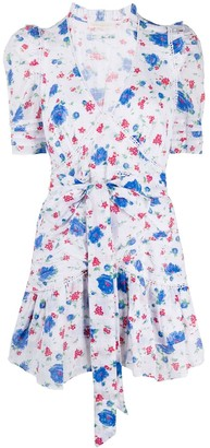 LoveShackFancy Arlo floral-print wrap dress