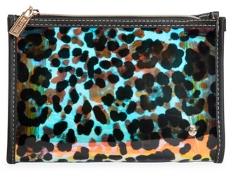 Stephanie Johnson Medium Miami Cheetah Holograph Cosmetic Pouch