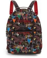 Christian Louboutin Loubitag printed backpack